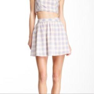 NWT Fifty Street Pastel Plaid Skirt